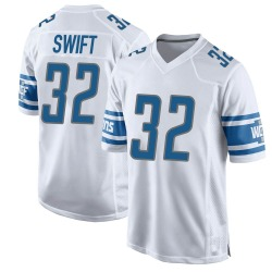 Nike D'Andre Swift Detroit Lions Youth Game White Jersey