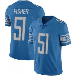 Nike James Fisher Detroit Lions Youth Limited Blue 100th Vapor Jersey