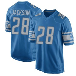 Nike Michael Jackson Detroit Lions Youth Game Blue Team Color Jersey