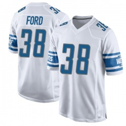 Nike Mike Ford Detroit Lions Men's Game White Jersey