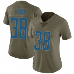 Nike Mike Ford Detroit Lions Women's Limited Green 2017 Salute to Service Jersey